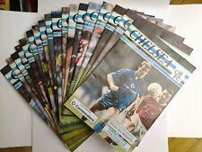 LOT/BUNDLE X16 - 1990/91 - CHELSEA FC HOME PROGRAMMES, SUPERB CONDITION.