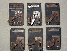 O Scale RR Model Train Six (6) UTC Lock-ons in Rusted Condition