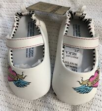 Baby White Shoes Classic Mary Jane BNWT Shower Gift 6-12m Daddy Mommy