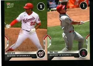 2020 TOPPS NOW MLB NETWORK TOP 100 - YOU PICK TO COMPLETE YOUR SET