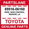 89516-06160 Toyota OEM Genuine WIRE, SKID CONTROL SENSOR, LH