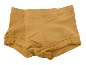 NIP Balera Beige Nude Banded Bottom Belly Shorts Size LC Large Child MT2893