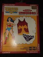 Juniors L Wonder Woman Symbol DC Comics Cosplay Underwear Panty & Tank Top Shirt