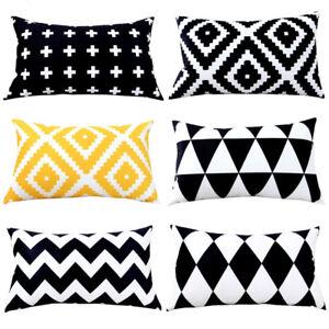 Rectangle Decorative Pillows Case Zigzag Pillows Velvet Cushions Cover Geometric