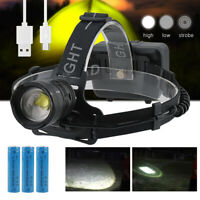 200000lm XPH70.2 Super Bright Led Headlamp usb Rechargeable Head Torch 3*18650