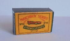 Repro Box Matchbox 1:75 Nr.41 Jaguar Racing Car älter