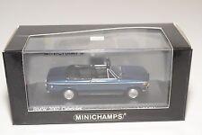 . MINICHAMPS BMW 2002 E10 CABRIOLET 1971 METALLIC BLUE MINT BOXED