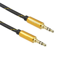 Juppa® 3.5mm Jack Plug to Plug Male Audio AUX Cable Lead Headphone iPod Car 5M