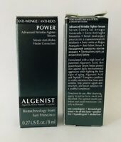 2 Algenist POWER Advanced WRINKLE FIGHTER SERUM  Total .54 oz New In Box