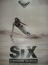 2014 #6 Steph-Quiksilver Stephanie Gilmore 6X Asp World Champ 24X18 Inch
