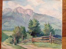 Aquarelle couleurs fine '800 primi '900 paysage montagnes ALPES