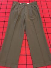 MEETING STREET PERFORMANCE MENS W 34 X 29 L TAN QUALITY COMFORT NICE DRESS PANTS