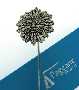 Green Man Silver Pewter Bookmark With Gift Box - Perfect Gift Idea