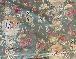 Pair (2) Pottery Barn Chinoiserie Euro Pillow Sham Preowned