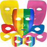 Face Masks, Colored Eye Masks & Full Face PLUR Novelty - Choose Your Style!