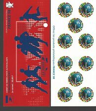 FRANCE 1998 WORLD CUP ROUND STAMP, SC#2628 BOOKLET PANE OF 10 BELOW FACE VAL