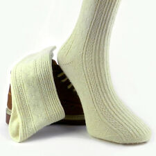 %100 LAMBSWOOL SOCKS THICK UNISEX KNITTED WOOL BUILDER MOTORIST CAMPING SOCKS