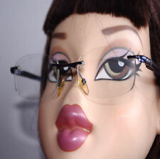 QUICKSILVER QO2034/404 MNAVY Occasion métal monture Lunettes invisible Eyeglasse
