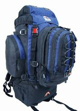 Camping Rucksack Backpack Hiking Detachable Day Back Pack Bag Blue Green Red 50L
