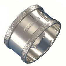 HALLMARKED SILVER NAPKIN RING CELTIC PATTERN.   STERLING SILVER SERVIETTE RING