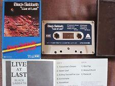 BLACK SABBATH Live at Last JAPAN CASSETTE TAPE CP25-5009 w/PIC SLIP CASE+INSERT