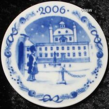 2006 Royal Copenhagen Fayence MINI PIATTO DI NATALE/CHRISTMAS PLAQUETTE