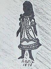 "Vintage Franki's Antique French Bebe Doll Dress Patterns  ABBIE SIZES 11"" - 27 """