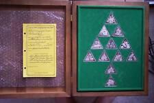 Lincoln Mint Twelve days of Christmas 12 silver Tringot
