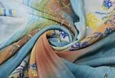 Vintage Saree Pure Silk Hand Embroidered Woven Fabric Premium Sari Handicraft