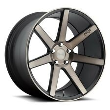 "19"" Staggered Niche Wheels M150 Verona Black Machined Rims"