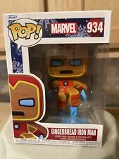 Funko Pop! MARVEL HOLIDAY GINGERBREAD IRON MAN #934 IN HAND **MINT**