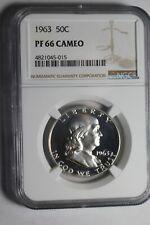 1963 Franklin Half Dollar PF66 Cameo NGC #015
