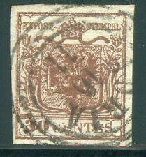 Lombardei Venetien Nr. 4 X a Type I Plattenfehler ADRIA Befund BPP