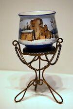 POT faïence céramique porcelaine hiver MONTURE laiton NAPOLEON III 1850 1880