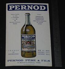 CHROMO PUBLICITAIRE PERNOD 1920-1930