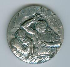 """Vatikan 2002  Silbermedaille  """"Das Jüngste Gericht"""" von Michelangelo aus PP-Satz"""