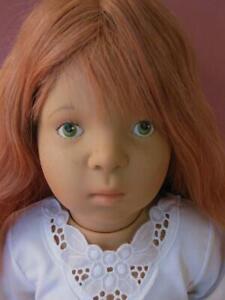 "SYLVIA NATTERER GOTZ 25"" DOLL FRECKLES HUMAN HAIR"