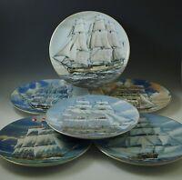 ROSENTHAL GREAT AMERICAN SAILING SHIPS SET OF 6 PLATES