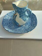 Design Craft Vintage Collectible Porcelain Blue & White Duck Design Vase & Plate