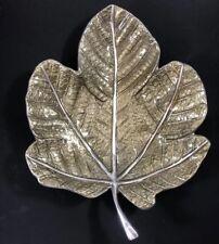 Mariposa Enamel Leaf Sauce Dish Tray Bronze 100% Recycled Aluminum RARE