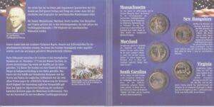 USA État Trimestre Lot 2000 - 5 Monnaie Dans Dossier