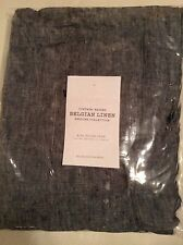Restoration Hardware Vintage Washed Belgian Linen King Sham Indigo Blue