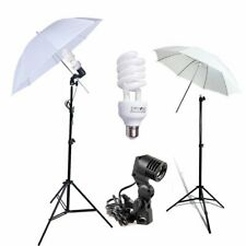 Photography Photo Studio Continuous Lighting Kit White Soft Umbrella Light Stand