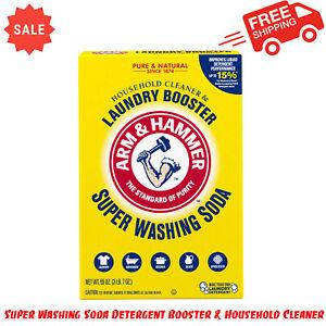 Arm & Hammer Super Washing Soda Detergent Booster & Household Cleaner, 55 oz.