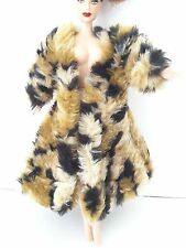 Handmade Fur Coat - Fashion Royalty, Barbie and similar dolls #127