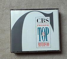 """CD/ VARIOUS """"NOUVEAUTÉS TOP N°2 PRINTEMPS 1989"""" COFFRET 2XCD COMPILATIONS PROMO"""
