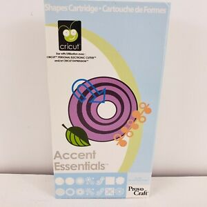 CRICUT CARTRIDGE Accent Essentials Basic Shapes 2007 Unlinked