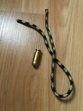 Pocket Knife Paracord Lanyard + Brass Bead (bullet shape) - Used