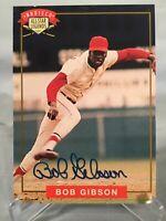 Bob Gibson 1994 Nabisco All Star Legends Authentic Signed Card w/COA  HOF