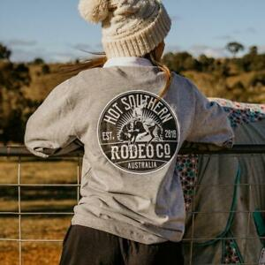 Bronc Rodeo Co Unisex Rugby Jersey - Grey